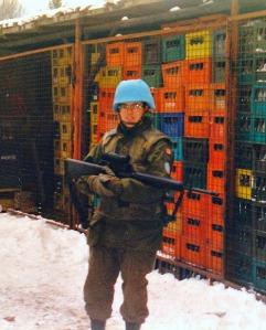 Lesleyanne Ryan, on duty in Bosnia.